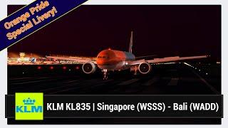 [FSX] KLM KL835   Singapore (WSSS) - Bali Denpasar (WADD)   PMDG 777-300ER