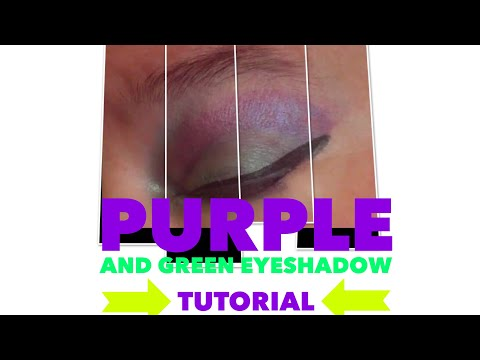 Purple Green eye makeup tutorial | younique | There are no rules