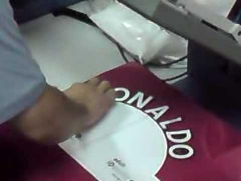 Printing of RONALDO #7 (EPL Style) on Man Utd Home Jersey
