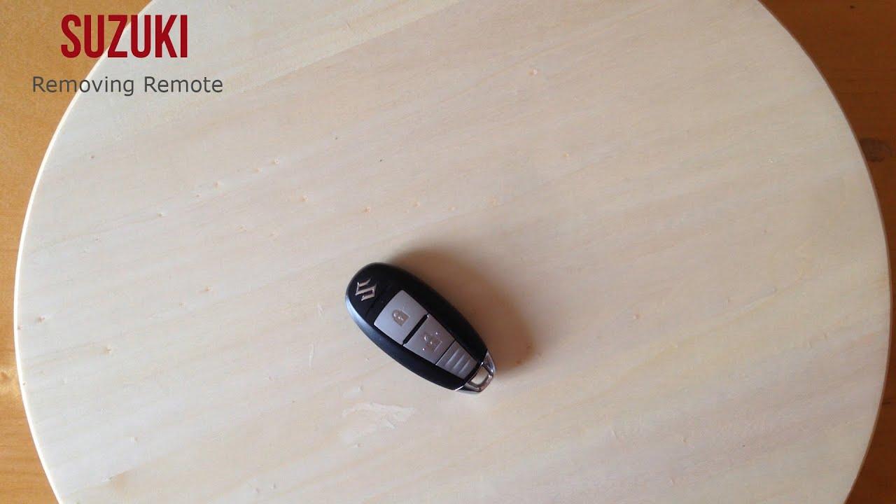 suzuki removing remote smontaggio telecomando youtube. Black Bedroom Furniture Sets. Home Design Ideas