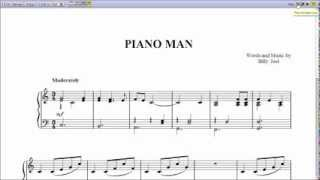 """Piano Man"" Billy Joel - Piano Sheet Music (Teaser)"