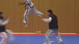 Taekwondo: Nord- und Südkoreanische Athleten zeigen ihr Können