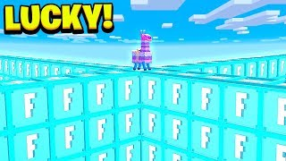 MINECRAFT 1v1v1v1 FORTNITE LUCKY BLOCK WALLS! - Mods Minecraft