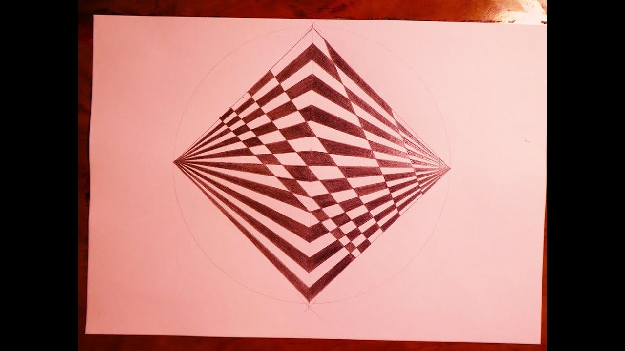 How To Draw Geometric Square With Trippy Pattern Psychedelic