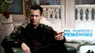 Пингвины мистера Поппера 2011 Интревью с Джимом Керри