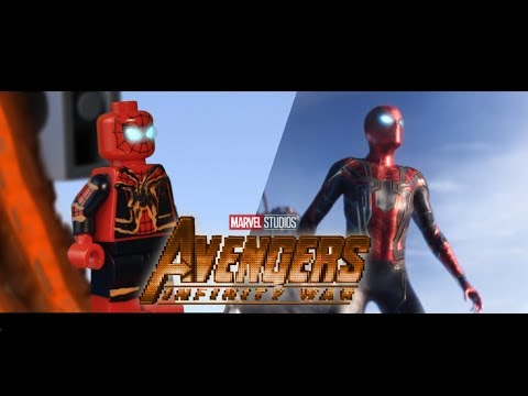 AVENGERS:  Infinity War Official Trailer In LEGO! Side By Side Version!