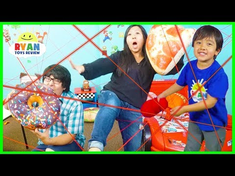 Ultimate Laser Challenge with Ryan ToysReview and Kid Spy Toys