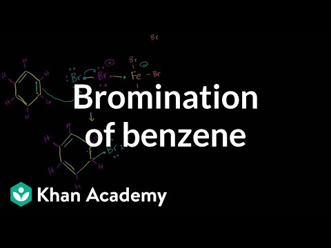 Bromination Of Benzene   Aromatic Compounds   Organic Chemistry   Khan Academy