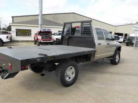 2004 Dodge Ram 2500 4WD Quad Cab SLT 5.9 CUMMINS 6 SPEED FLAT BED (Lewisville, Texas) - YouTube