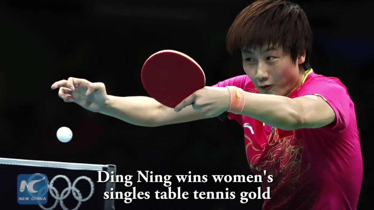 Ding Ning wins women\'s singles table tennis gold - YouTube