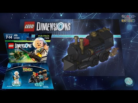 Lego Dimensions - Back To The Future - Traveling Time Train - Build Instructions  71230