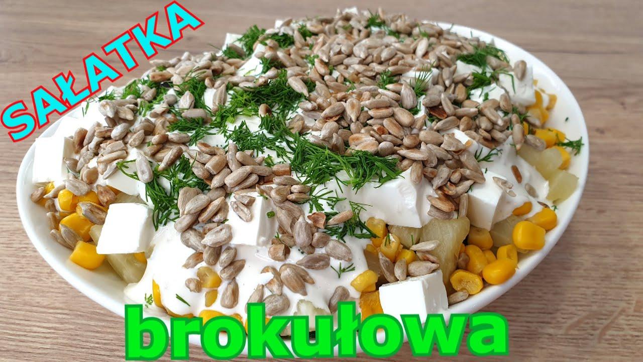 Pyszna sałatka brokułowa na grilla lub na imprezę 👌 sposób na ugotowanie idealnego brokuła 👍