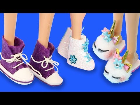 13 DIY Barbie Shoes Collection Series | Miniature Life Hacks and Doll Crafts For Kids!