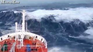 【驚愕】嵐と津波に遭遇してしまった大型船 6選 2016