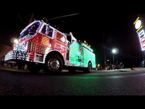 Runnemede Fire Co. Fire truck Christmas light parade. - Runnemede Fire Co. Fire Truck Christmas Light Parade. - YouTube