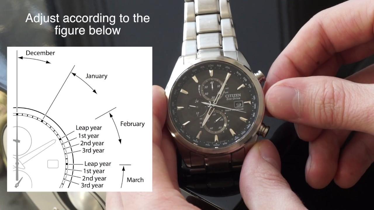 Citizen World Chrono Atomic Manual Time Adjustment Youtube