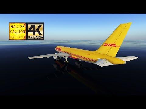 [DHK103] East Midlands EGNX ✈ EDDP Leipzig Halle (FlightFactor Boeing 757-200SF | XP11 4K)
