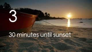 """relaxingeye No. 3 - Relaxing sunset with """"brain wave"""" music for sleep, meditation or study"""