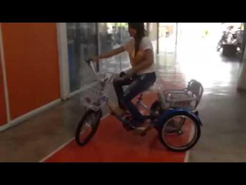 สาธิตการขับขี่ จักรยานสามล้อไฟฟ้า โดยร้านยุทธคอปเตอร์ อีไบค์