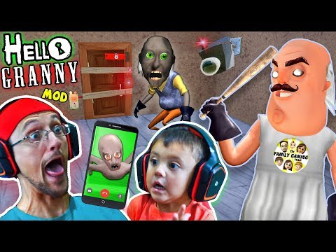 HELLO GRANNY!! a Hello Neighbor Grannys House Mod Mini-Game! Baybee Slendrina FaceTimes FGTEEV!