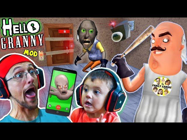HELLO GRANNY!! a Hello Neighbor Grannys House Mod Mini-Game! Baybee Slendrina FaceTimes FGTEEV!