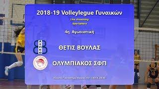 2018-19 Volleyleague Γυναικών Θέτις Βούλας - Ολυμπιακός (18/11, 20:00), Live streaming!