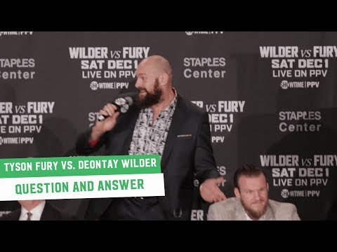 Tyson Fury sings Beyonce and tells Wilder 'Don't Knock Cocaine til You Try It' | Full Q&A