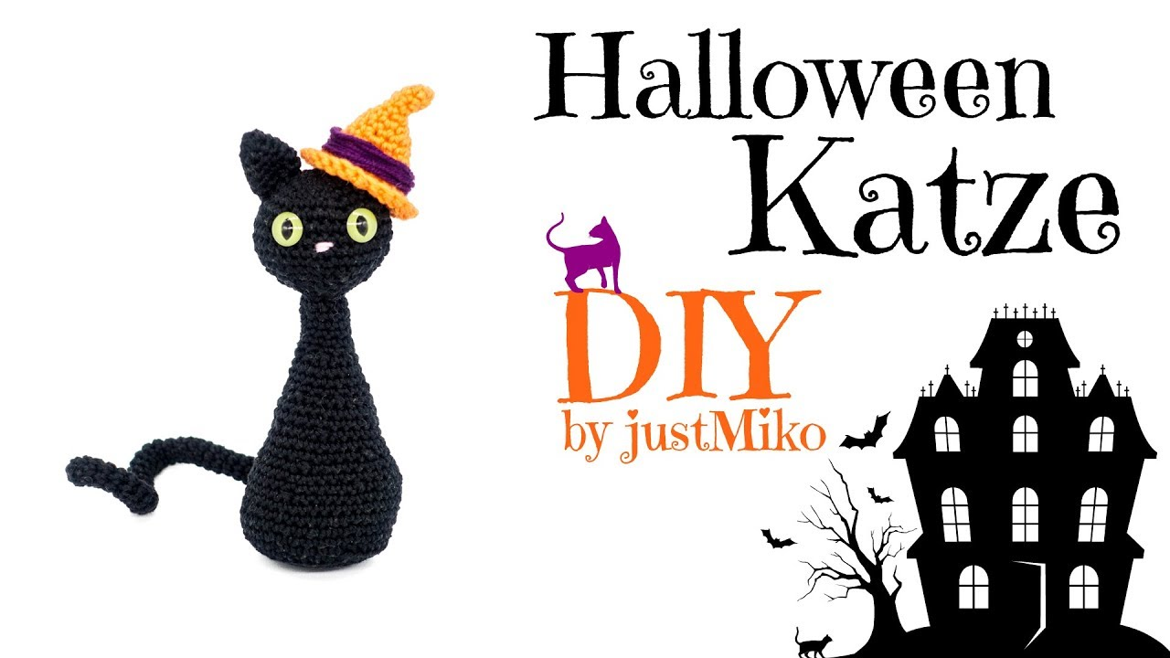 Katze häkeln 🎃 *Do it Yourself* Amigurumi | Halloween | - YouTube