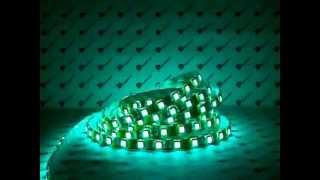 Светодиодная лента RGB с SMD 5050 светодиодами(Работа RGB светодиодной ленты с контроллером. Диоды SMD 5050. В каждом диоде 3 цвета., 2011-12-26T18:26:28.000Z)