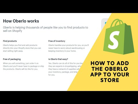 Shopify Tutorial: How to use the free Dropshipping app Oberlo to find and sell products