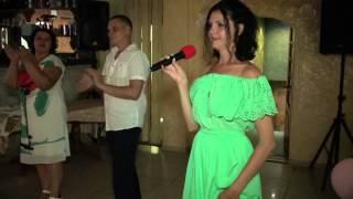 Песня в исполнении Елены Малаховой и слова благодарности от жениха и невесты