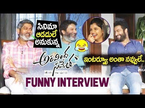 Aravinda Sametha Team Funny Interview With Anchor Shyamala | JR NTR, Trivikram, Jagapathi Babu