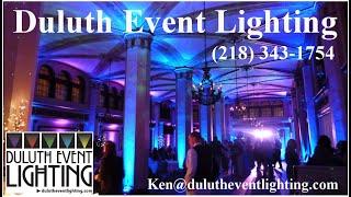 Up lighting the Moorish Room, Wedding reception lighting in Duluth