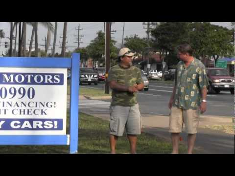 AKAMAI MOTORS Actors COMMERCIAL In-House Financing Used Car Lot Maui Hawaii NO CREDIT CHECK