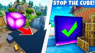 we STOPPED the CUBE from Entering LOOT LAKE! (kinda)