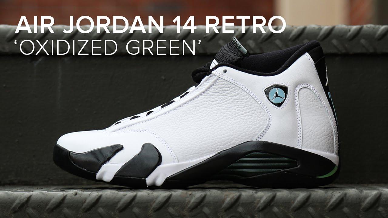 8c9acdd57139 Air Jordan 14 Retro  Oxidized Green  Quick Detailed Look - YouTube