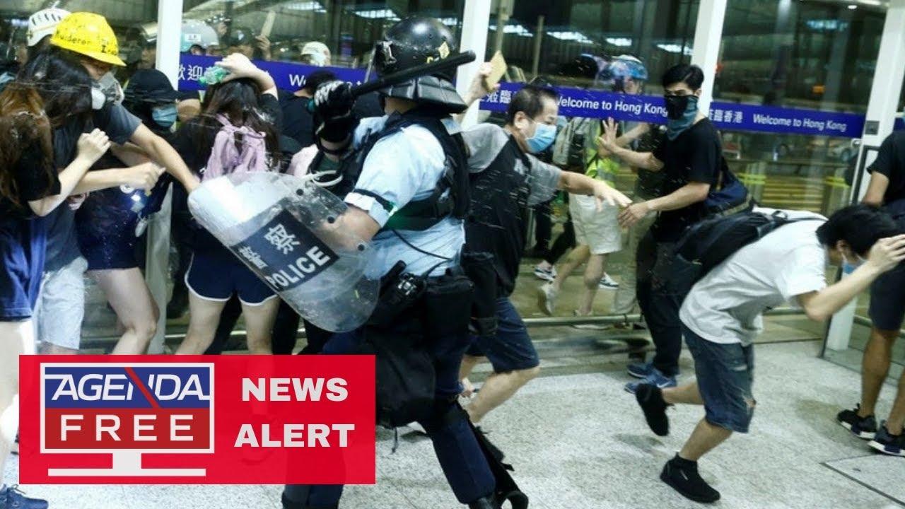 Agenda Free TV Hong Kong Airport Protests - LIVE NEWS COVERAGE