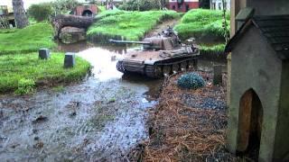 1:6 Scalwe German panther Tank around the church