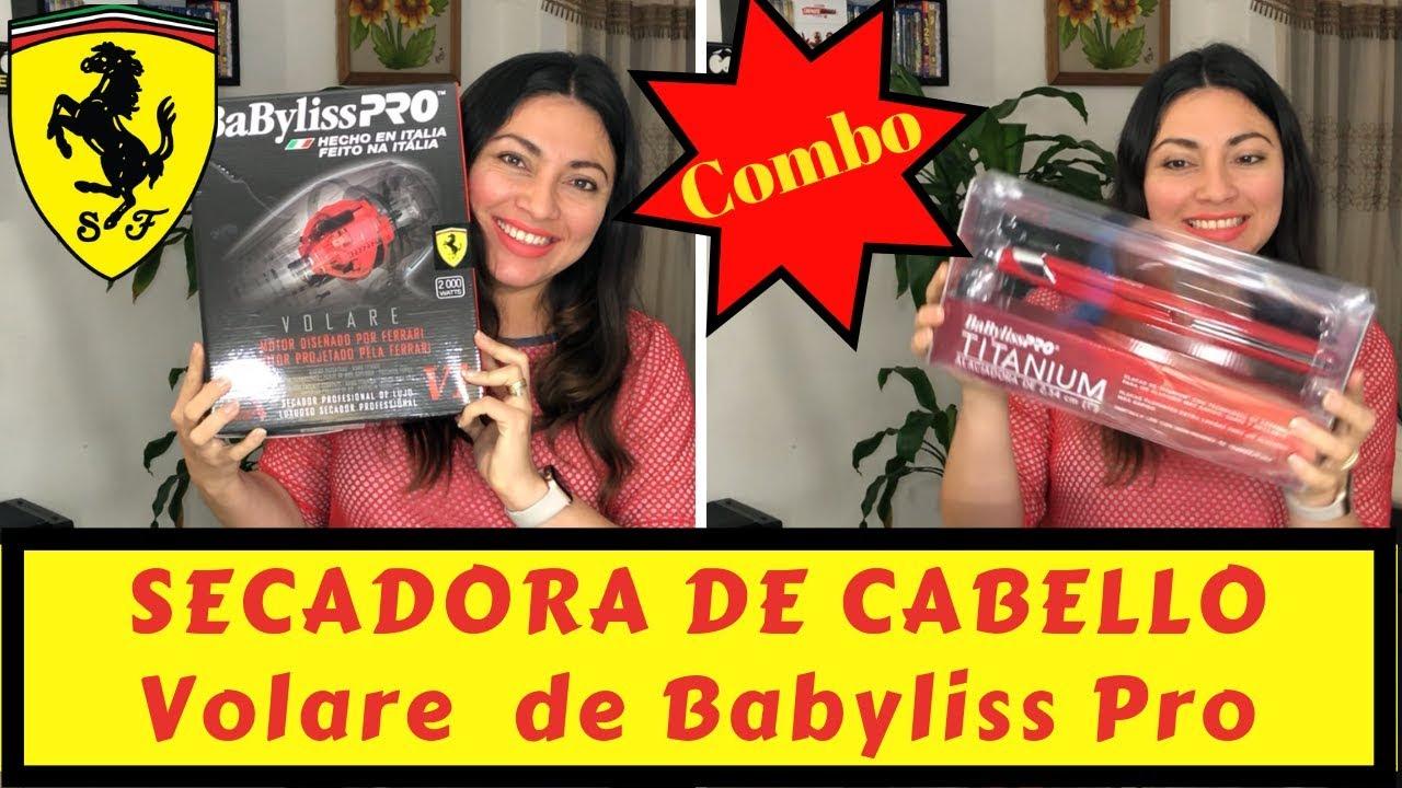 4b661683745 (UNBOXING COMBO FERRARI) SECADORA DE CABELLO BABYLISS PRO VOLARE BY ANGIE  TORRES