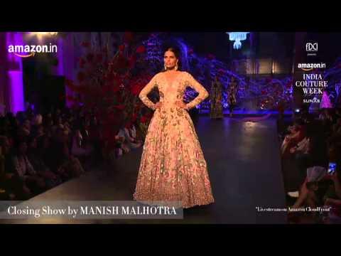 540c7492ae Manish Malhotra live at Amazon India Couture Week 2015 - YouTube
