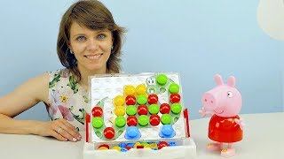 СВИНКА ПЕППА и Цветная Мозаика - Развивающее видео для детей. Играем и Учим Цвета. Peppa Pig