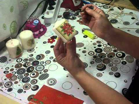 Como decorar una vela con la tecnica del decoupage decoupage decorate a candle youtube - Decorar con velas ...