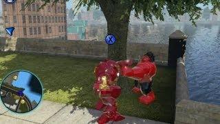 LEGO Marvel Super Heroes - Unlocking Ironman (Hulkbuster) + Free Roam (Character Token Location)