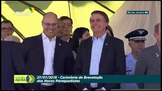 Bolsonaro participa da Cerimônia de Brevetação dos Novos Paraquedistas, no Rio de Janeiro