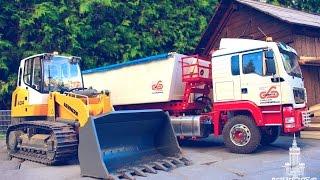 Garden Construction Site / RC Liebherr Crawler Loader LR 634 Litronic & MAN TGS 4x4