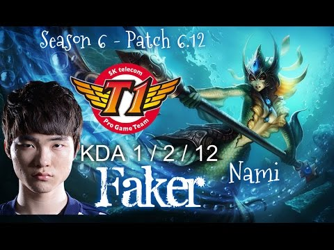 SKT T1 Faker NAMI Supp vs Bard - Patch 6.12 KR | League of Legends