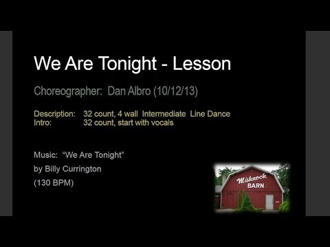 We Are Tonight - Lesson