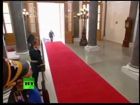 Nice walk, Mr. Putin