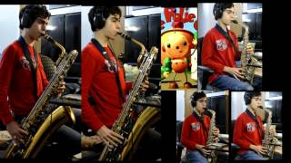 Rolie Polie Olie Theme Song Intro Cover: Alto+Baritone Saxophone Quartet Arrangement Remix