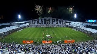 Spectacular Mosaic in Defensores del Chaco - Recibimiento Olimpia vs. Independiente